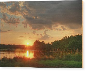 Wood Print featuring the photograph Summer Sunset On Empire by Mary Hershberger
