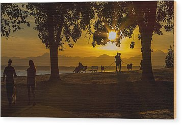 Wood Print featuring the photograph Summer's Last Sunset by Ken Stanback