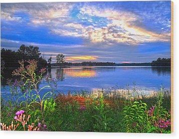 Wood Print featuring the photograph Summertime Walk Around Lake  by Randall Branham