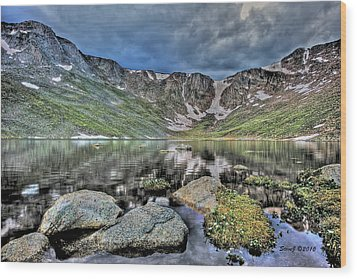 Summit Lake Tundra And Granite Wood Print by Stephen  Johnson