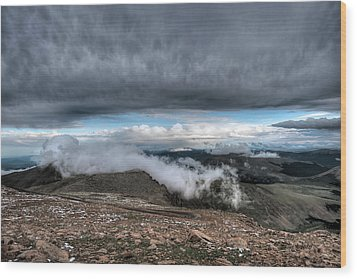 Summit View On Mount Evans Wood Print by Stephen  Johnson