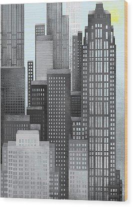 Sun And Skyscrapers Wood Print by Jutta Kuss