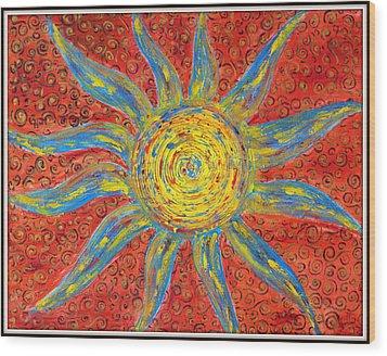 Sun Wood Print by Ankita Ghosh