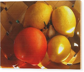 Sun Basket Wood Print
