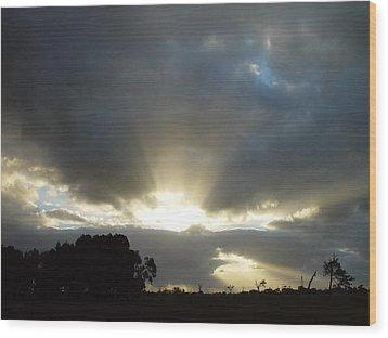 Sun Beams Wood Print by Paul Van Scott