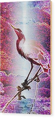 Sun-bird Wood Print by Hartmut Jager