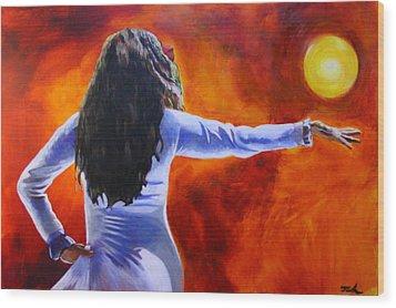 Sun Dancer Wood Print by Jerry Frech