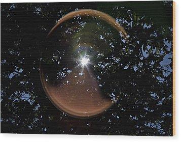 Wood Print featuring the photograph Sun Flair by Maj Seda