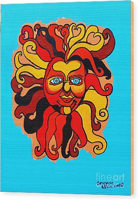 Sun God II Wood Print by Genevieve Esson