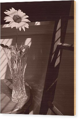 Wood Print featuring the photograph Sun In The Shadows by Lynnette Johns