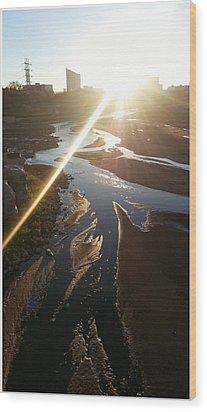 Sun Ray Wood Print by David Alvarez