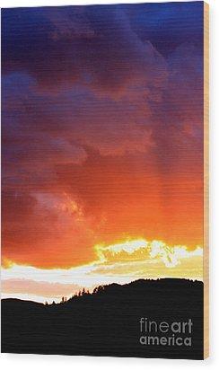 Sun Rays Wood Print by Nick Gustafson