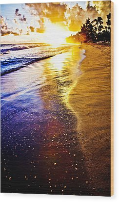 Sun Sand And Symphony Wood Print