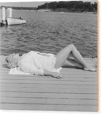 Sunbather Wood Print by Jacobsen
