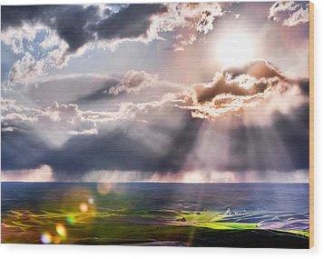 Sunburst 2 Wood Print