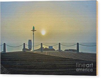 Wood Print featuring the photograph Sunburst In Fog by Joseph Hollingsworth
