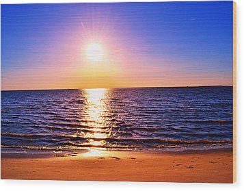 Wood Print featuring the photograph Sunburst by Kelly Reber
