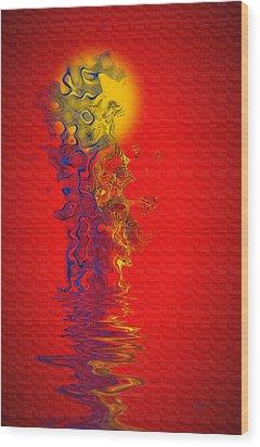 Wood Print featuring the digital art Sundance by Vicki Pelham