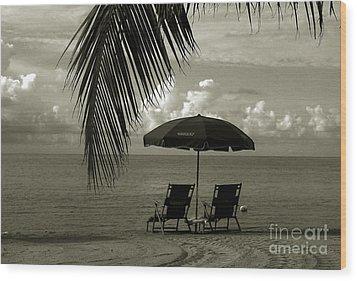 Sunday Morning In Key West Wood Print by Susanne Van Hulst