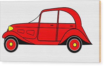 Sunday Picnic  - Virtual Car Wood Print by Asbjorn Lonvig