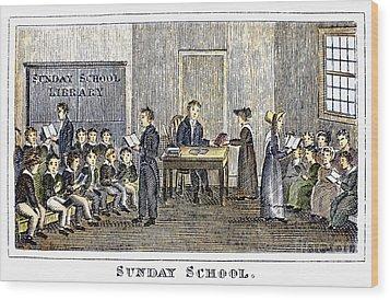 Sunday School, 1832 Wood Print by Granger