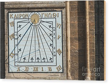 Wood Print featuring the photograph Sundial by Andrew  Michael