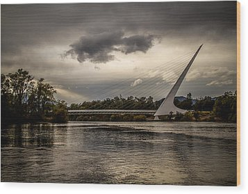 Wood Print featuring the photograph Sundial Bridge - 1 by Randy Wood
