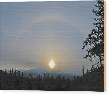 Wood Print featuring the photograph Sundogs  by Brian Sereda