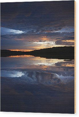 Sundown At Lake Wood Print