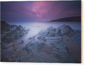 Sundown At Leas Foot Wood Print by Mark Leader