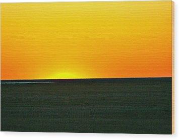 Sundown Wood Print by Debbie Sikes