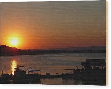 Sundown In Nessebar Wood Print by AmaS Art