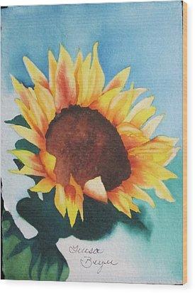 Sunflower 2 Wood Print by Teresa Beyer