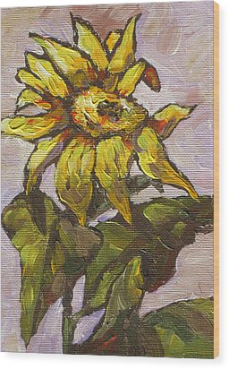 Sunflower 5 Wood Print by Sandy Tracey