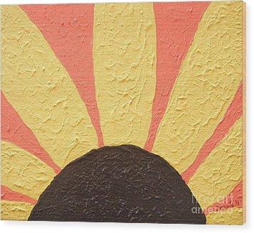 Sunflower Burst Wood Print by Jeannie Atwater Jordan Allen