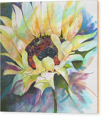 Sunflower IIi Wood Print by Vicki Brevell
