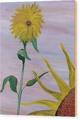 Sunflower Wood Print by Mark Moore