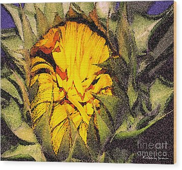 Sunflower Slumber Wood Print