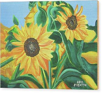 Sunflowers Wood Print by John Keaton