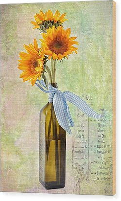 Sunflowers No 402 Wood Print by James Bethanis