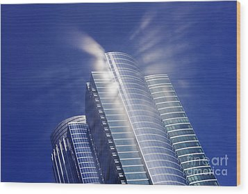 Sunlight Reflected Off An Office Building Wood Print by Jeremy Woodhouse