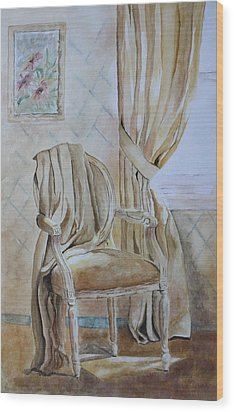 Wood Print featuring the painting Sunlit Afternoon  by Patsy Sharpe