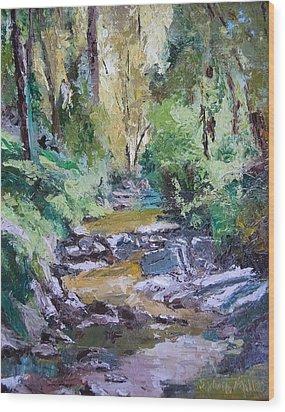 Sunlit Woodlands Wood Print
