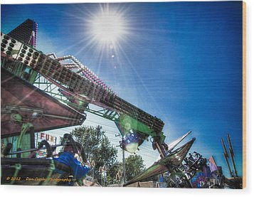 Sunny At The Fair Wood Print by Dan Crosby