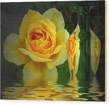 Sunny Delight And Vase 2 Wood Print by Joyce Dickens