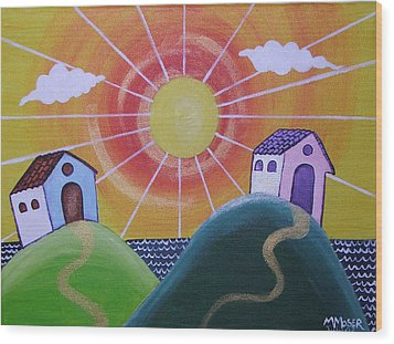 Sunny Wood Print by Monica Moser