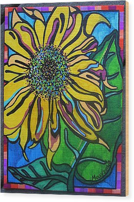 Sunny Sunflower Wood Print by Molly Williams