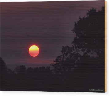 Sunrise  09 25 12 Wood Print by Joyce Dickens