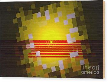 Sunrise Abstract Digital Painting  Wood Print by Heinz G Mielke