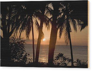 Sunrise At Bali Island Wood Print by Tim Laman